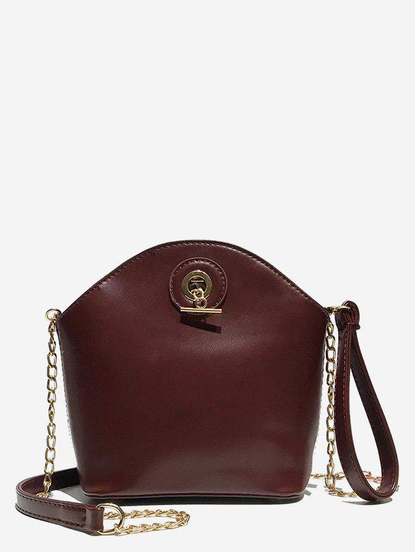 Online Shell Shape Zipper Design Crossbody Bag