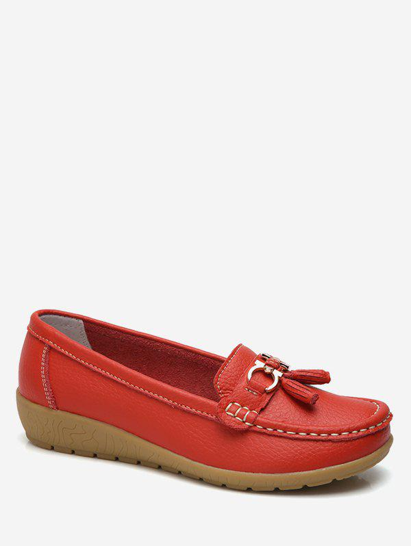 Buy Metal Bow Loafer Shoes