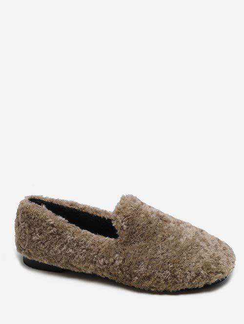 Discount Faux Fur Winter Loafer Shoes