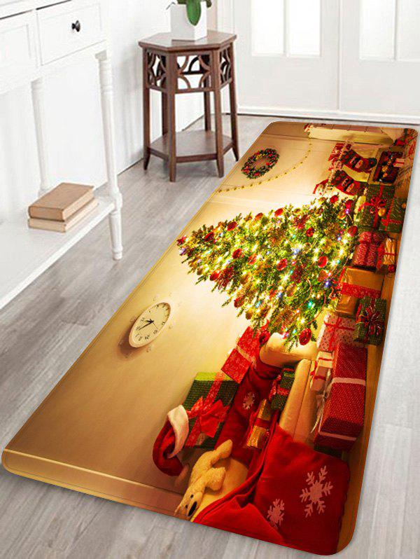 Affordable Christmas Tree Gift Printed Non-slip Area Rug