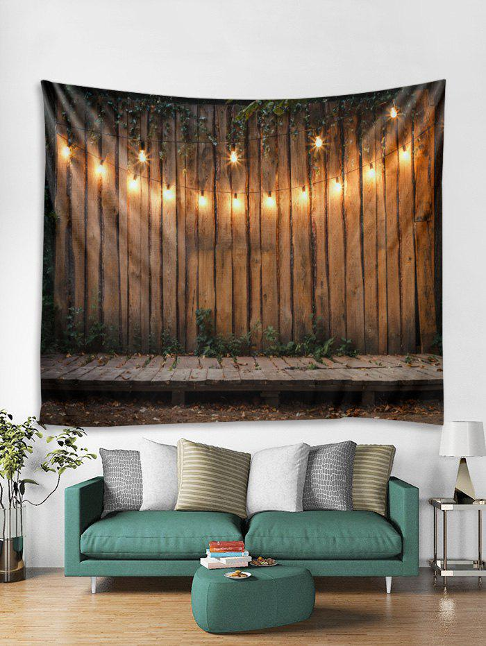 Outfit Christmas Wood Grain Print Tapestry Wall Hanging Decor