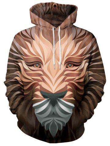 938d0eb59241 3D Print Animal Lion Casual Hoodie