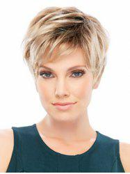 Side Bang Colormix Short Layer Straight Synthetic Wig -