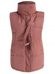 Snap Button Padded Waistcoat -