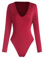 V Neck Long Sleeve Bodysuit -