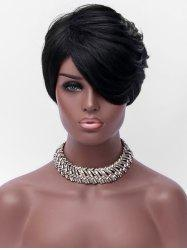 Oblique Bang Short Layer Straight Capless Synthetic Wig -