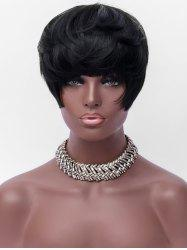 Short Full Bang Straight Party Synthetic Wig -
