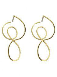Hollow Out Irregular Design Earrings -