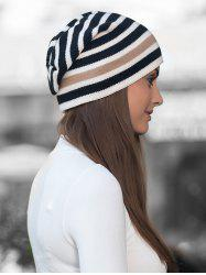 Winter Thick Warm Striped Wool Knitted Beanie -