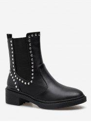 Mid Calf Chelsea Boots with Studs -