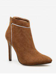 Contrast Stripe Pointed Toe Ankle Boots -