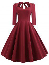 Vintage Bow Tie Swing Dress -