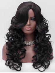 Side Parting Long Body Wave Party Synthetic Wig -