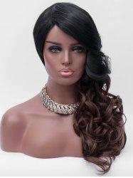 Side Bang Long Ombre Wavy Party Synthetic Wig -