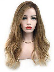 Side Bang Ombre Long Natural Straight Synthetic Wig -