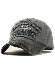 Letter Embroidery Washed Dyed Baseball Cap -