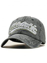 Stylish Letter Embroidery Adjustable Sport Hat -