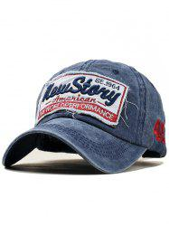 Letter Embroidery Washed Dyed Duckbill Hat -