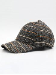 Stylish Plaid Adjustable Duckbill Cap -