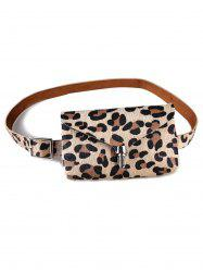 Leopard Fanny Pack Faux Leather Belt Bag -