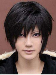 Short Cosplay Side Bang Straight Synthetic Wig -