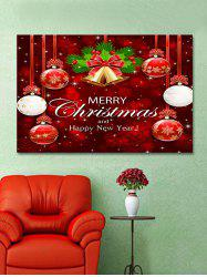 Christmas Balls Bells Print Wall Art Sticker -