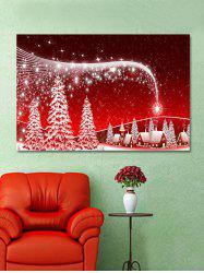 Christmas Night Trees Print Wall Art Sticker -