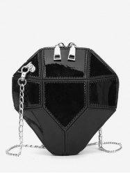 Splicing Link Chain Design Crossbody Bag -