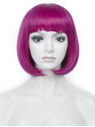 Short Full Bang Colorful Straight Bob Party Synthetic Wig -