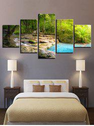 Tree Brook Print Split Unframed Canvas Paintings -