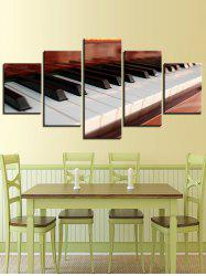 Piano Key Print Split Unframed Canvas Paintings -