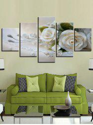 3D Flower Print Split Unframed Canvas Paintings -