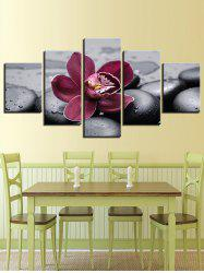 Floral Print Split Unframed Canvas Paintings -