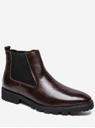 Dot Jacquard Ankle Chelsea Boots -