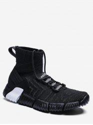 Contrast Letter High Top Sock Sneakers -
