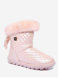 Geometric Faux Fur Snow Boots -