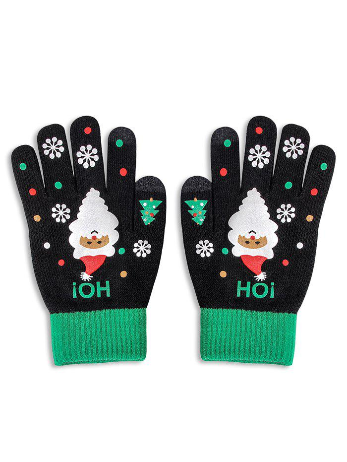 Outfit Christmas Santa Claus Knitted Touch Screen Gloves