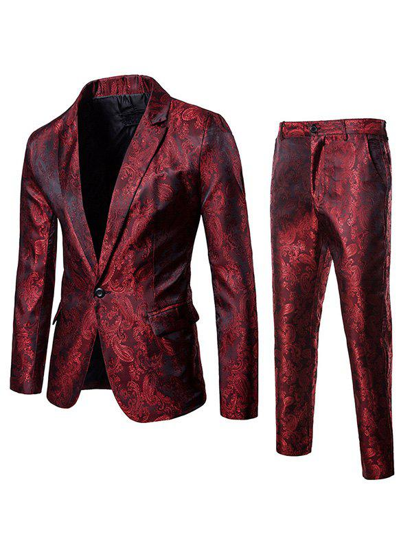 Affordable Paisley Printed Blazer and Pants Twinset