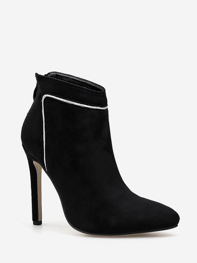 Sale Contrast Stripe Pointed Toe Ankle Boots