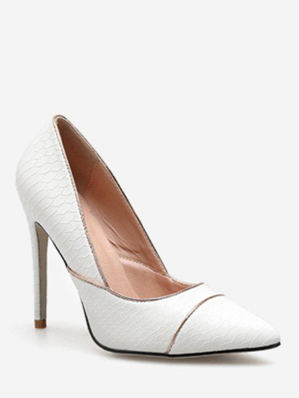 Affordable Contrast Stripe Pointed Toe Pumps