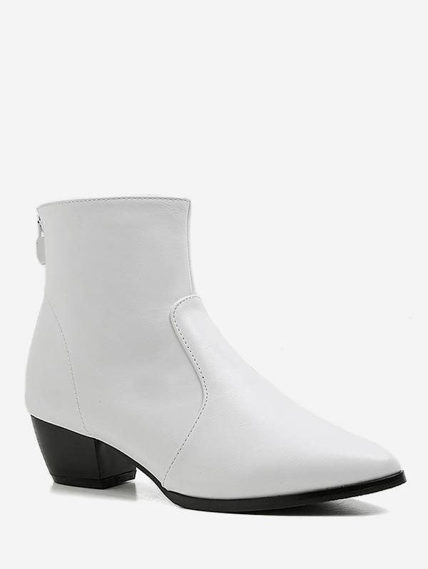 Outfit Pointed Toe Ankle Boots