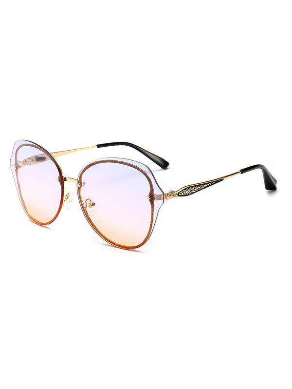 Fancy Vintage Metal Frame Clear Lens Sunglasses