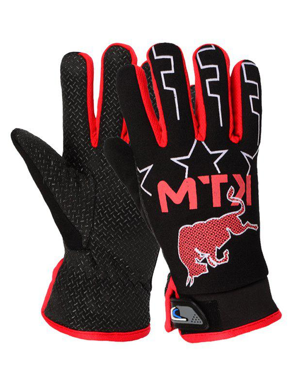 Sale Touch Screen Outdoor Cattle Letter Print Waterproof Gloves