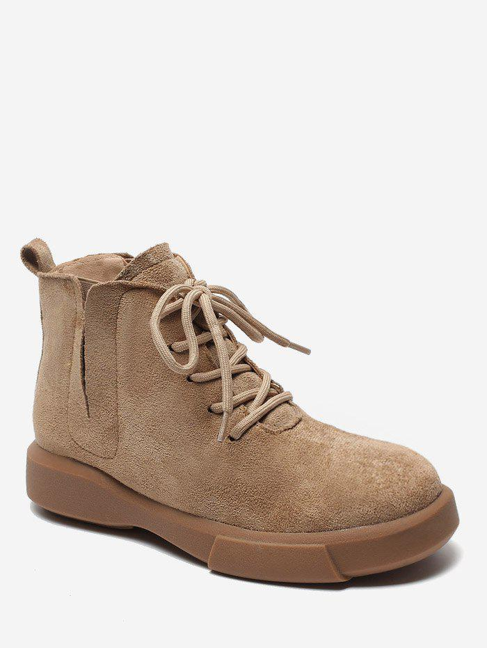 Hot V Cut Lacing Ankle Boots