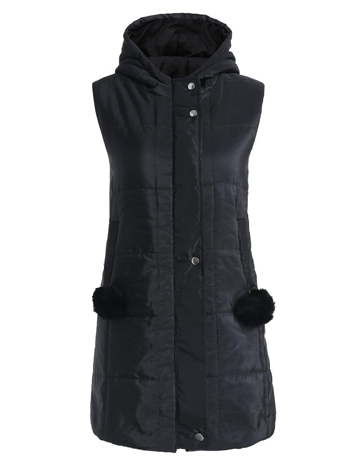 Long Gilet Rembourré Zip Up