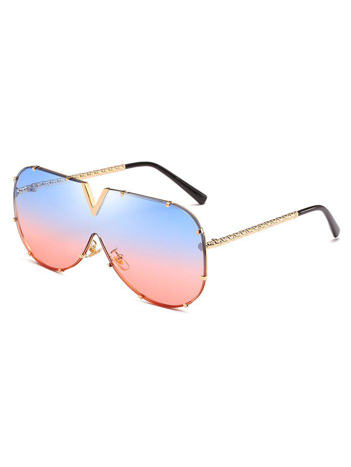 Outfit Novelty Rimless Alloy Sunglasses