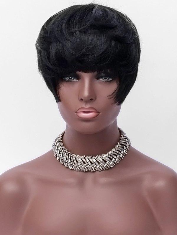 Sale Short Full Bang Straight Party Synthetic Wig