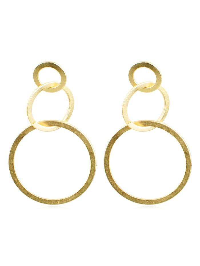 Sale Long Round Circle Design Alloy Earrings
