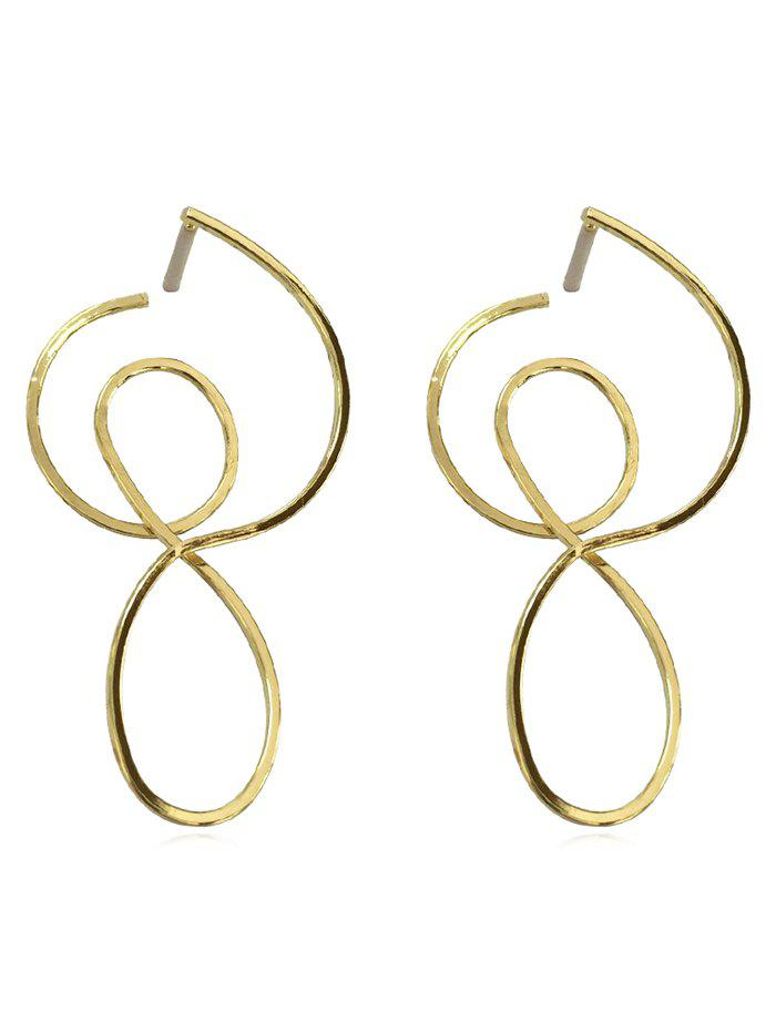 Sale Hollow Out Irregular Design Earrings