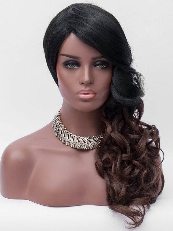 Store Side Bang Long Ombre Wavy Party Synthetic Wig